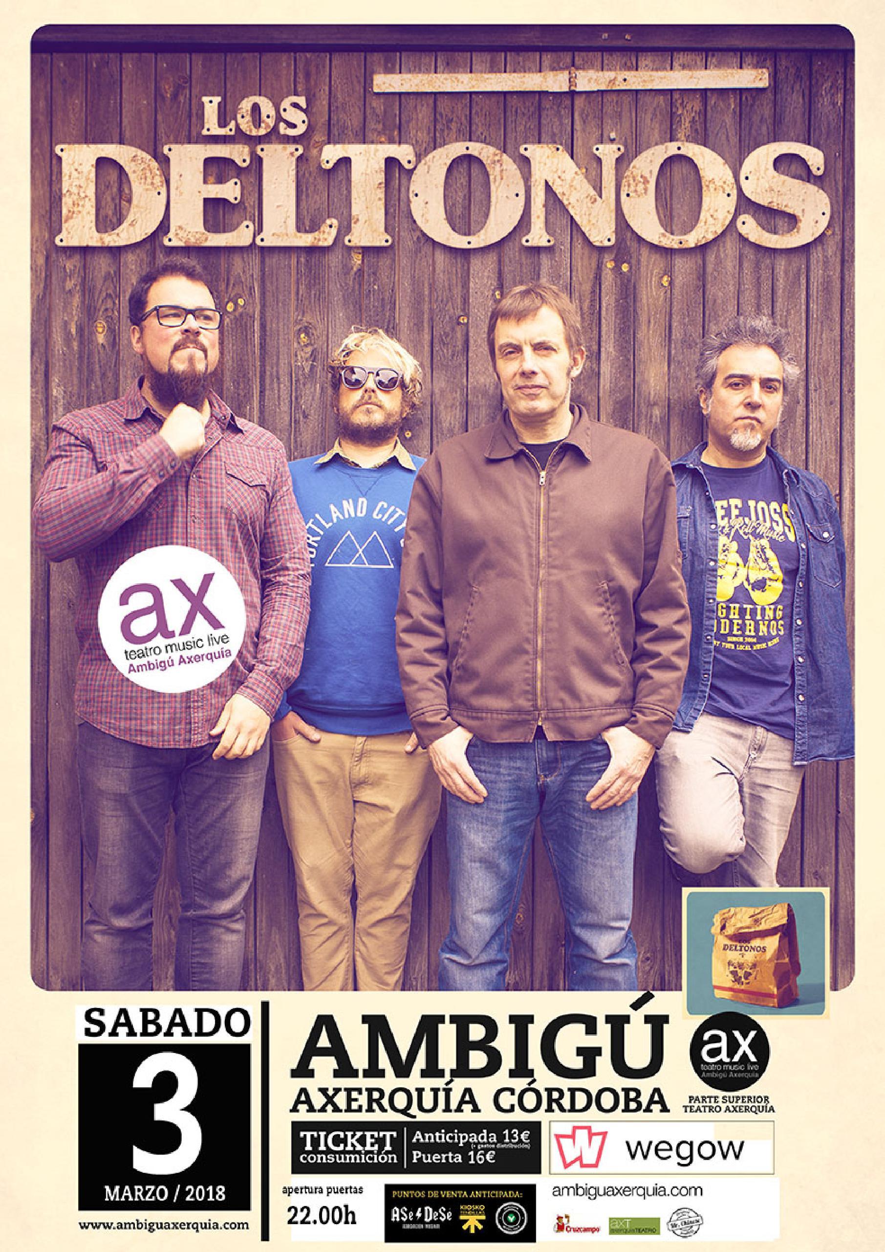 LOS DELTONOS - Sala Ambigú Axerquía Córdoba @ Sala Ambigú Axerquía