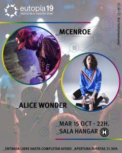 McEnroe + Alice Wonder. @ Sala Hangar Córdoba